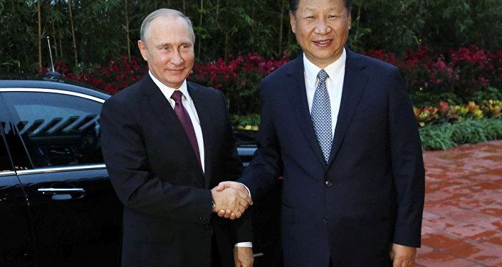 El presidente de Rusia, Vladímir Putin y su homólogo chino, Xi Jinping (archivo)