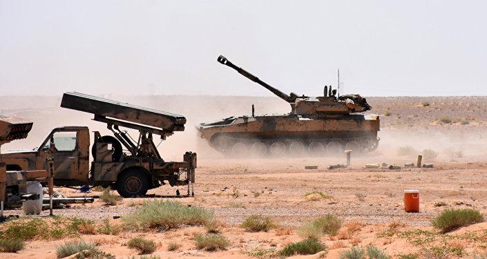 La artillería del Ejército sirio (archivo)