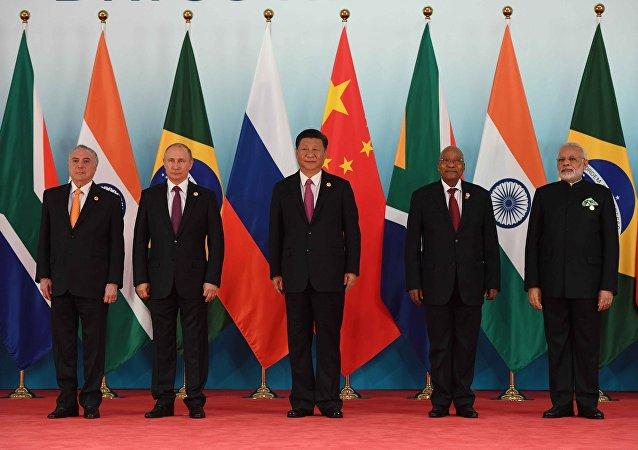 Los líderes de los países de los BRICS (archivo)