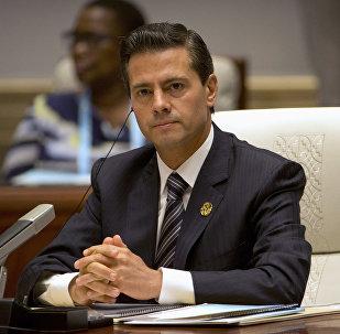 Enrique Peña Nieto, presidente de México, en la cumbre de BRICS (archivo)