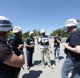 Los observadores de la OSCE en Donbás
