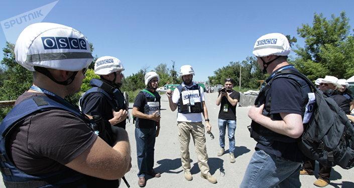 Los observadores de la OSCE en Donbás (archivo)