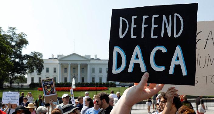 Manifestación a favor de DACA en EEUU (archivo)
