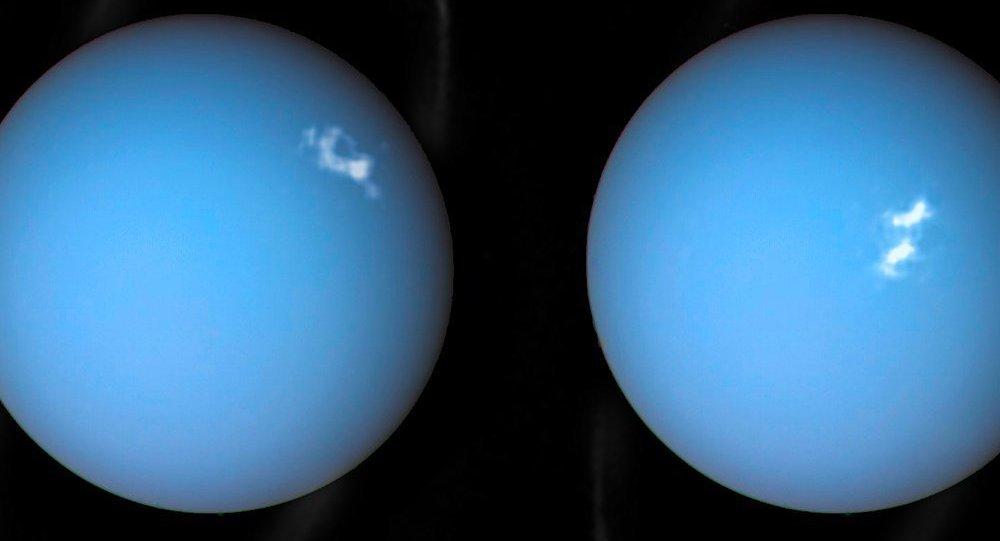 Imágenes de Urano registradas por Voyager 2