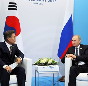 Presidente de Corea del Sur, Moon Jae-in, y presidente de Rusia, Vladímir Putin