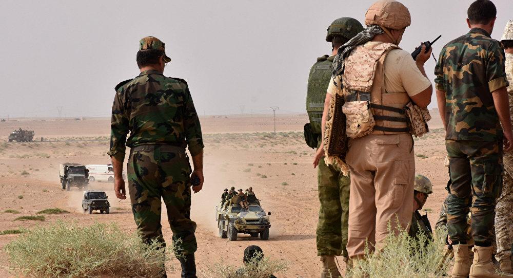 EL Ejército sirio en Deir Ezzor