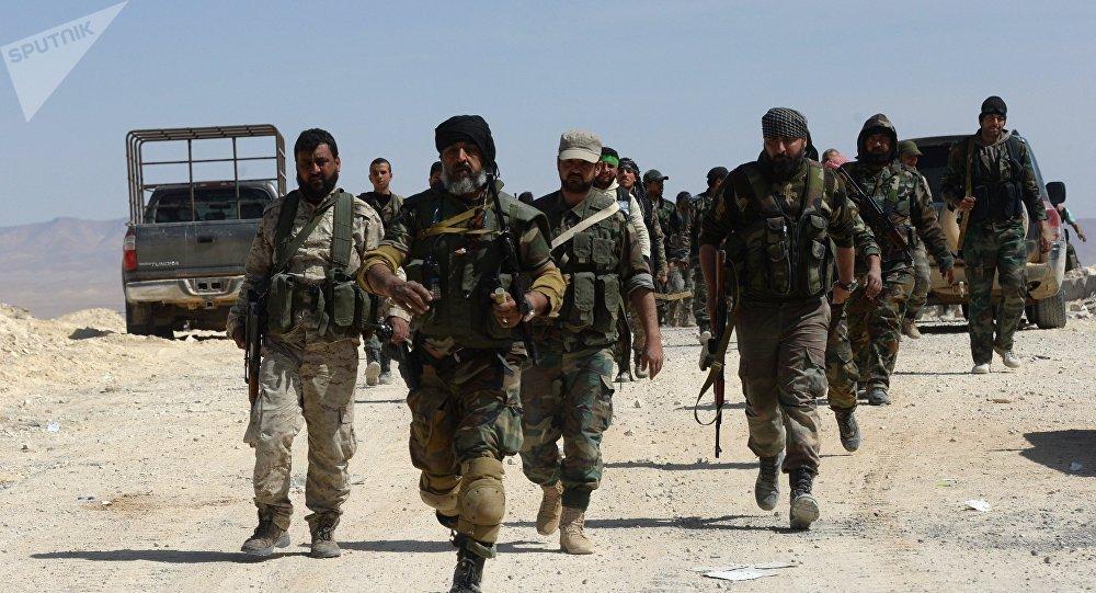Los soldados del Ejército sirio (archivo)