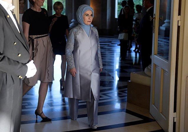 La primera dama de Turquía, Emine Erdogan