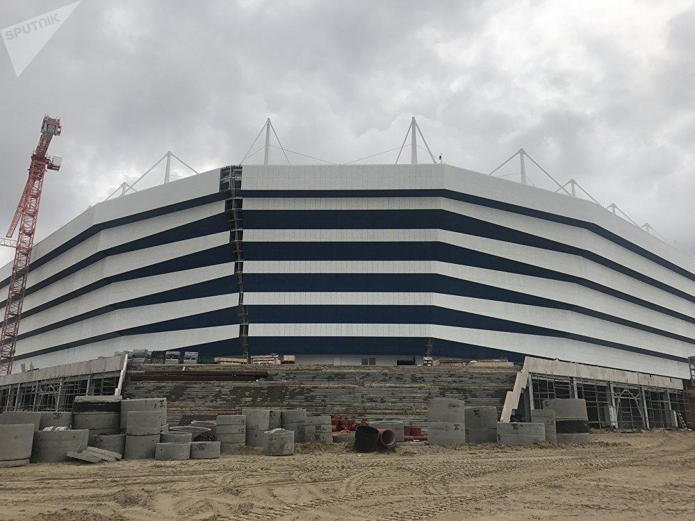 Imagen desde el exterior del estadio a cuatro meses de su finalización