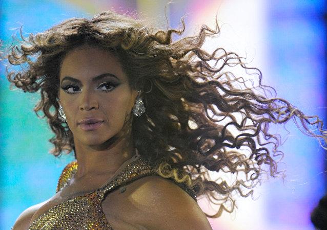 Beyoncé durante una presentación en Moscú en 2009 (archivo)