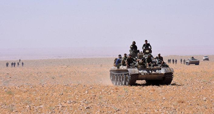 Las tropas gubernamentales sirias en Deir Ezzor