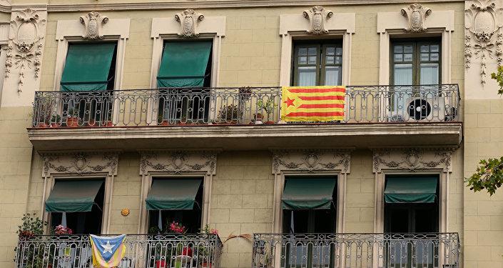 Esteladas, banderas separatistas de Cataluña