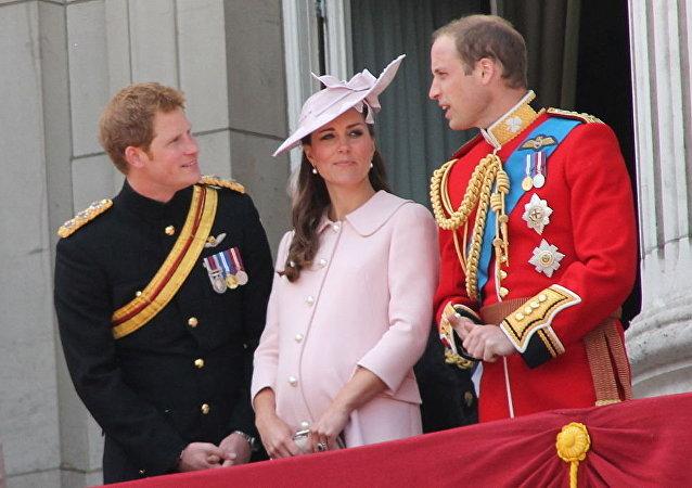La princesa Catalina Middleton embarazada en 2013 (archivo)
