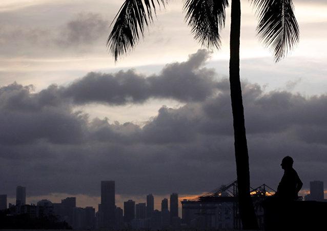 La llegada del huracán Irma en Florida, EEUU
