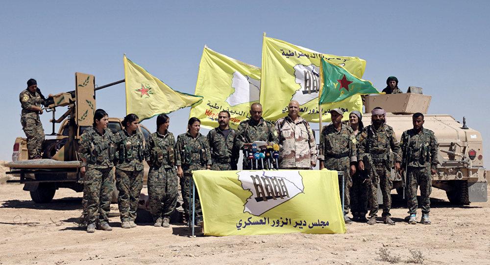 Los miembros de las Fuerzas Democráticas de Siria (FDS) en Siria (archivo)