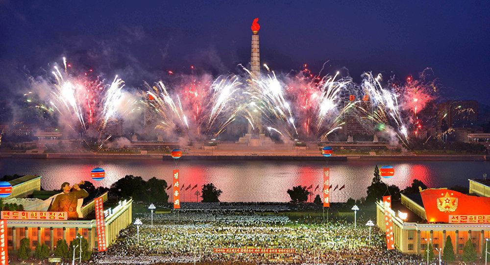 El espectáculo pirotécnico en Pyongyang tras la prueba nuclear
