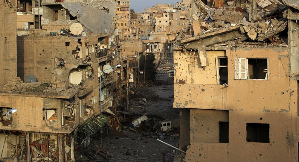 Edificios destruidos en Deir Ezzor