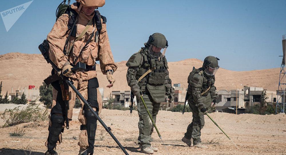 Zapadores rusos en Siria (Archivo)