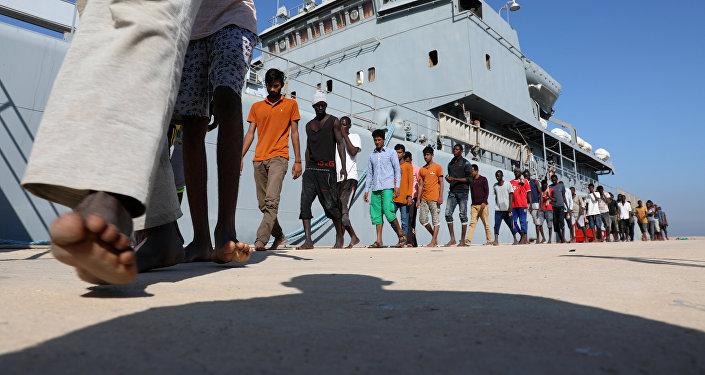Migrantes libios (archivo)