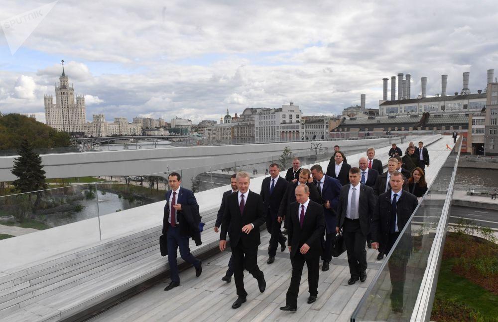 La apertura del parque Zariadie al lado del Kremlin moscovita
