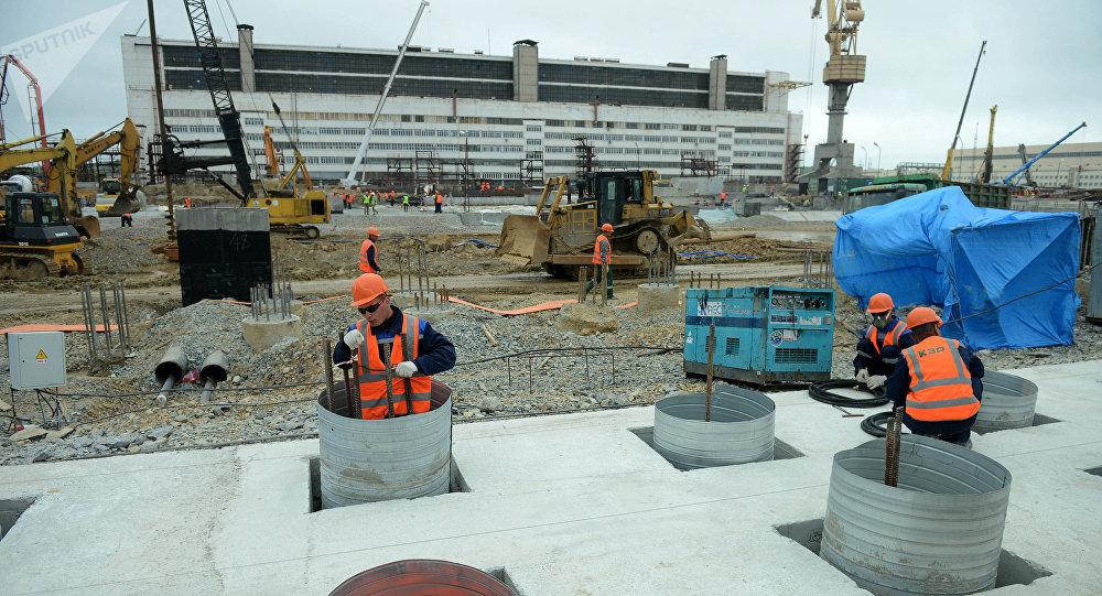 La construcción de nuevos edificios del astillero Zvezda en Primorie