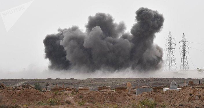Un ataque de las Fuerzas Aeroespaciales de Rusia contra las posiciones de Daesh en Siria (archivo)