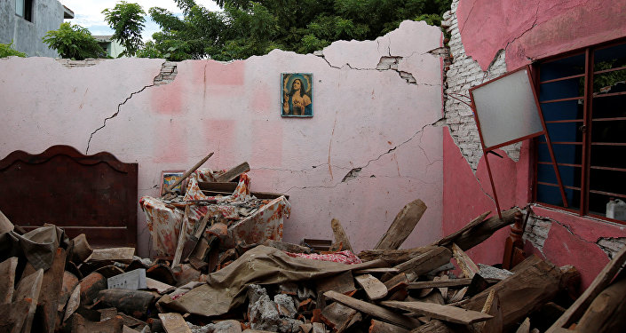 Las consecuencias del terremoto en México (archivo)