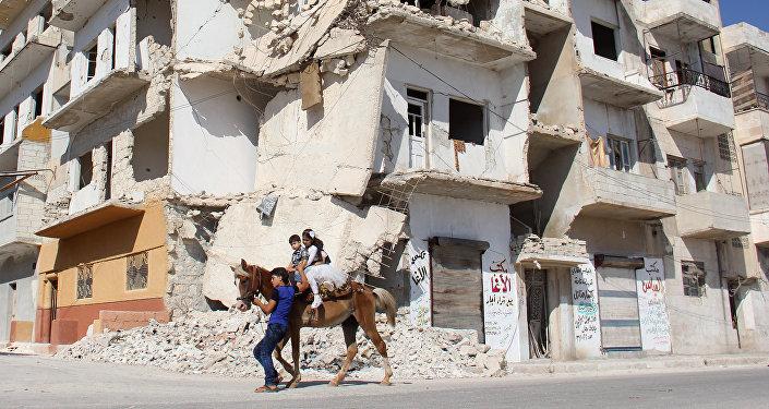 Niños en la ciudad siria de Idlib (archivo)