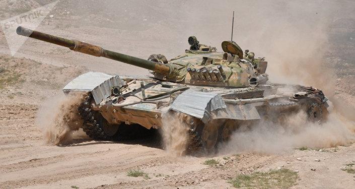 Tanque T-72 del Ejército sirio (archivo)