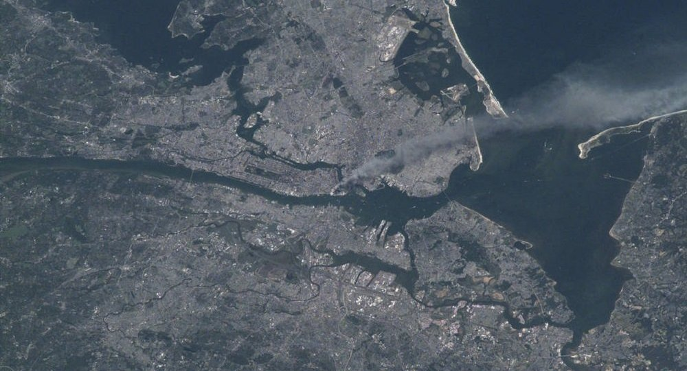 Los atentados del 11S vistos desde el espacio