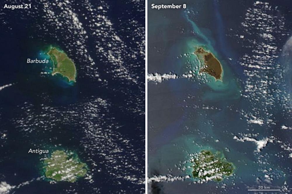 Las consecuencias del huracán Irma en las islas caribeñas de Antigua y Barbuda