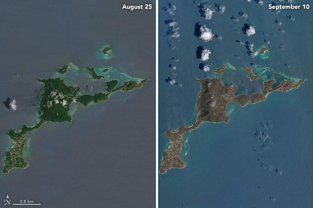 Las consecuencias del huracán Irma en la isla Virgen Gorda