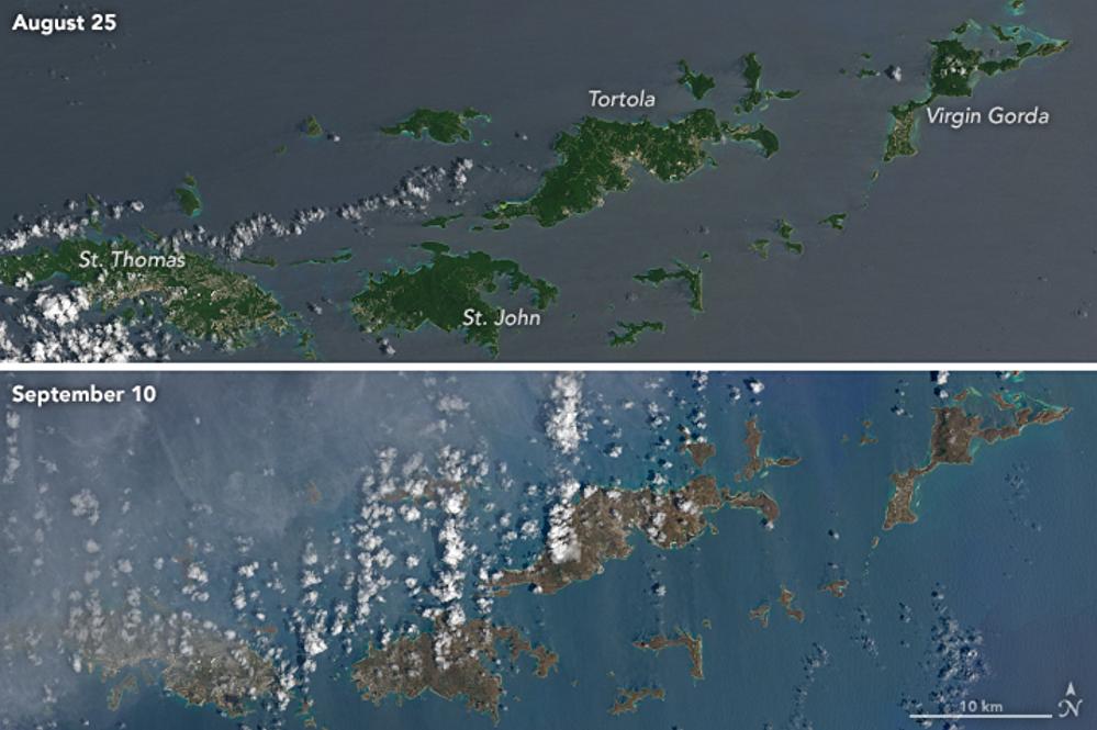 Las consecuencias del huracán Irma en varias islas del Caribe
