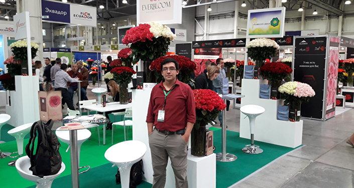 Federico Santa Cruz, representante de la empresa Everbloom Roses Ecuador