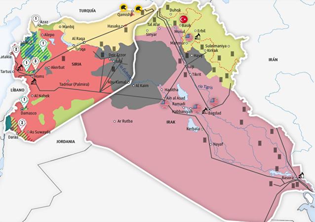 Fuerzas sirias en las afueras de Deir Ezzor