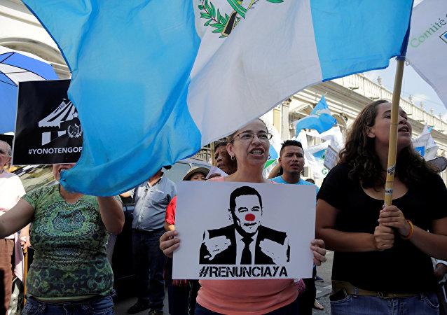 Protestas en Guatemala