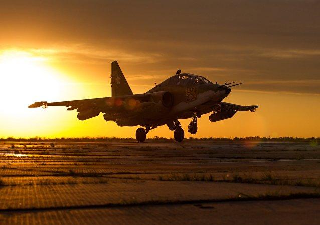 Su-25SM3, avión ruso de ataque a tierra (imagen referencial)