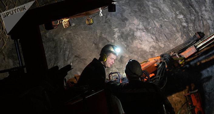 Mineros rusos (imagen referencial)