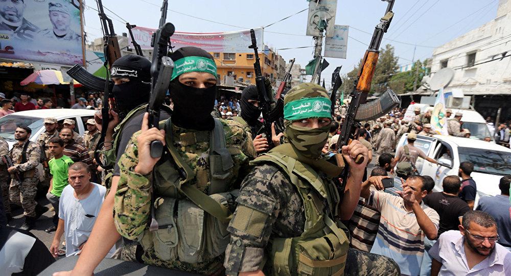 Militantes del movimiento Hamás (archivo)