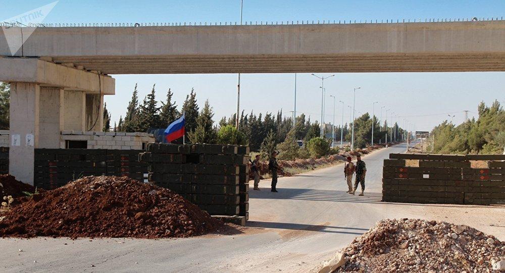 La autopista Homs-Hama en Siria