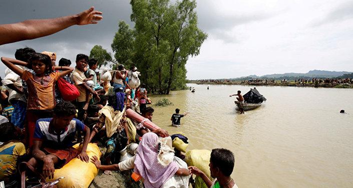 Refugiados rohinyás de Birmania