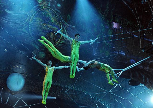 Ensayo del espectáculo Zarkana del Cirque du Soleil en el Kremlin