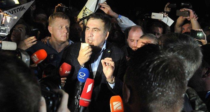 Expresidente de Georgia, Mijaíl Saakashvili, cruce la frontera ucraniana