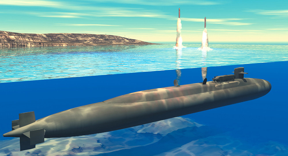 Submarino de clase Ohio (ilustración gráfica)