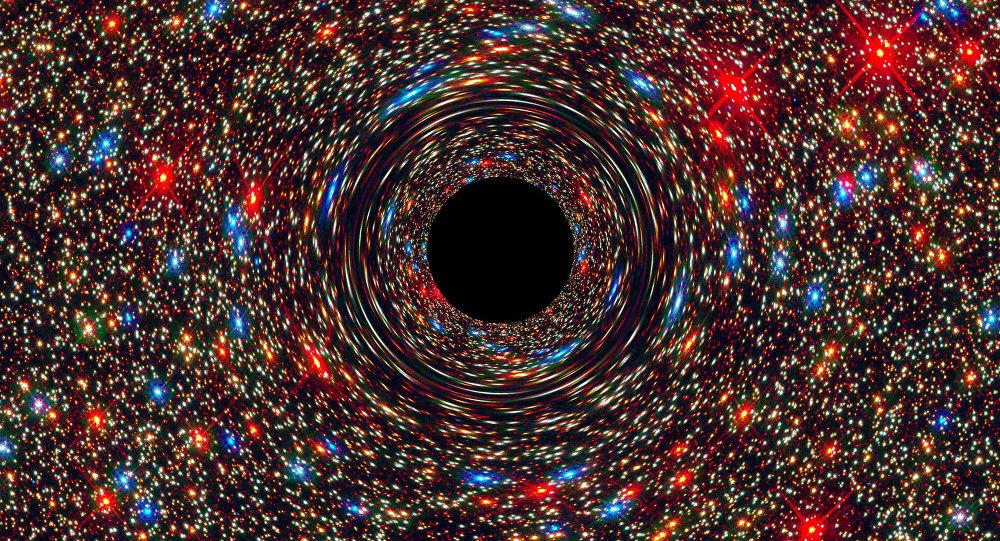 Una similación gráfica de agujero negro (imagen referencial)