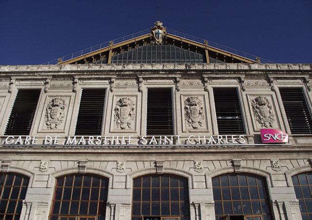 La estación Saint-Charles en Marsella, Francia