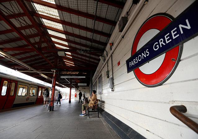 Estación de metro 'Parsons Green' en Londres, Reino Unido