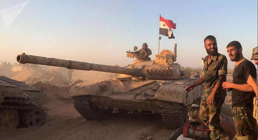 Tropas sirias en los alrededores de Deir Ezzor, Siria