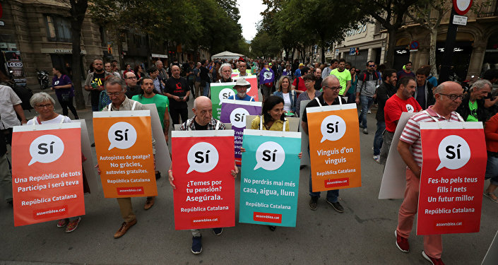 Los partidarios de la independencia de Cataluña
