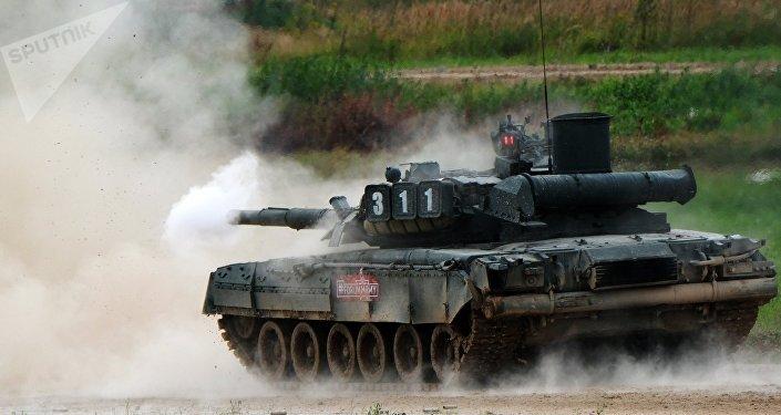 Un tanque T-80 (archivo)